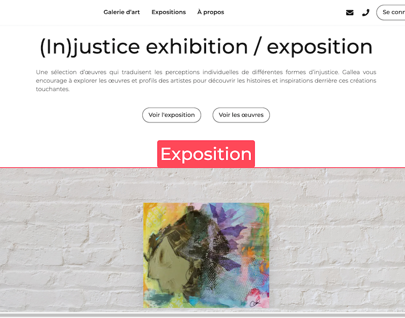 (In)justice - exposition virtuelle par Gallea